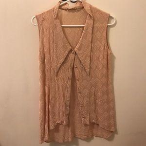 🔶 Vintage button up sleeveless shirt